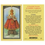 Polish Art Center - Infant of Prague - Holy Card.  Plastic Coated. Picture and prayer is on the front, text is on the back of the card.