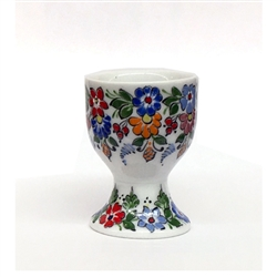 From the renowned workshop of Cepelia Opolska in Opole come these fine examples of Polish painting on porcelain. Each piece is made painted and initialed by a master artist. These highly ornamented porcelain pieces are made in the town of Opole. They feat