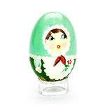 These beautiful wooden eggs are hand painted and feature a Polish maiden. Chicken egg size. Made In Poland. Hand painted so no two are exactly alike.