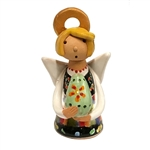 Our beautiful little ceramic angel is dressed in her Polish folk costume and is holding a painted egg (pisanka).  Totally hand made and painted in Poland.  Stamped and artist initialed on the bottom.  No two angels are exactly alike as they are all hand