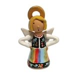 Our beautiful little ceramic angel is dressed in her Polish folk costume. Totally hand made and painted in Poland. Stamped and artist initialed on the bottom. No two angels are exactly alike as they are all hand made and painted. Colors vary.