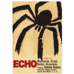 "Post Card: Echo, Polish Movie Poster designed by Wiktor Gorka in 1964. It has now been turned into a post card size 4.75"" x 6.75"" - 12cm x 17cm."