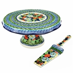 Use as a cake stand or to display deserts like cupcakes. Hand made in Poland.