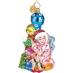 Delightfully designed Pediatric Cancer Charity Awareness ornament from the 2003 collection.