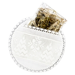 "If you are looking for an elegant way to decorate your Christmas Eve dinner table look no further.  This beautiful hand made ""little pillow"" has two pockets to hold and display the Christmas wafer and hay.  100% cotton and lace made in Poland."