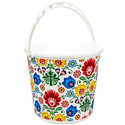 "10 Liter (2.5 gallons) capacity plastic pail.  Size approx 9.75"" x 12"" diameter at the top.  Please note that due to the size of this item Fedex  2 Day and Next Day delivery will incur additional charges.  Please include a contact number we may use to con"