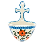 Collectors of Polish stoneware from Poland's premier company, Ceramika Artystyczna, will enjoy this unique item. The cross has a hole at the top for easy hanging. Artist initialed