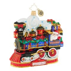 This express train comes directly from Santa's workshop, right to your hometown! Santa's choo-choo is chug-chug-chuggin' along, packed with presents for all the good girls and boys around!