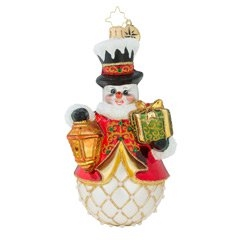 This frosty will never lose his way! His lantern will always shine brightly through the night, until the start of Christmas day!