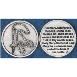 Great for your pocket or coin purse. Add to a gift for that extra special touch! Hail Mary Token (Coin)