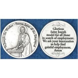 Great for your pocket or coin purse. Add to a gift for that extra special touch!  Saint Joseph The Worker Pocket Token (Coin)