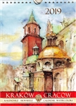 This beautiful small format spiral bound wall calendar features the works of Polish artist Katarzyna Tomala. 15 scenes from the city of Cracow in watercolours. Includes all Polish holidays and names days in Polish.