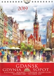 This beautiful small format spiral bound wall calendar features the works of Polish artist Katarzyna Tomala. 15 scenes from the Tri-City in watercolours. Includes all Polish holidays and names days in Polish. European layout (Monday is the first day of th