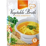 Adamba Polish Style Vegetable Broth Soup is delicious and easy to make. Instructions in English and Polish.  Makes 4 cups of soup.  Add your own noodles.