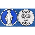 Great for your pocket or coin purse. Add to a gift for that extra special touch! Hail Mary Enamel Token (Coin)