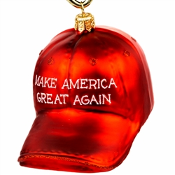 "Supporters of President Trump will love this ornament.  Size approx 3"" x 3"" x 4"".