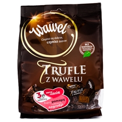Intensive cocoa, delicious dark chocolate and an aromatic rum note –that's the  secret of the unique flavor of the truffles.  Contains alcohol so these are not for children. 280 bag - 9.88oz.