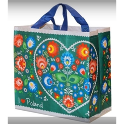 "This lightweight yet durable tote bag is a perfect way to display your heritage. Made of polypropylene (PP) woven laminate. Water runs right off.  Size opened is approx 14"" x 13.5"" x 8""."