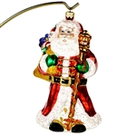 "This beautiful ornament of Santa getting ready to deliver gifts is just precious. Highly detailed. Size approx. 6.5"" x 3.5"" x 3"". 