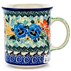 "Pattern Designed By Maria Starzyk. The artist has been connected with the Artistic Handicraft Cooperative ""Artistic Ceramics and Pottery"" since 1997. Since 2003 she has been a pattern designer. Signature Unikat pattern number U2512."