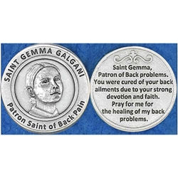 Saint Gemma Galgani (Back Pain) Pocket Token (Coin)) Great for your pocket or coin purse.