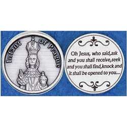 Infant of Prague Pocket Token (Coin)) Great for your pocket or coin purse.