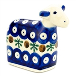 "This colorful stoneware lamb is made by the Czaja company in Boleslawiec.  Size is approx 3.25"" H x 4"" L x 1.75"" W.  Hand painted."