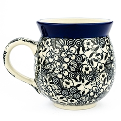 "Pattern Designed By Maria Starzyk. The artist has been connected with the Artistic Handicraft Cooperative ""Artistic Ceramics and Pottery"" since 1997. Since 2003 she has been a pattern designer. Signature Unikat pattern number U4772."