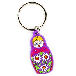 Attractive rubber key chain featuring a Polish Matrioshka Doll.