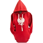 "This hooded pullover jacket is part of our new collection from Poland for all of our Polish fans.  This very attractive jacket features the Polish Eagle emblem on the front and the word ""Polska"" (Poland) embroidered at the bottom on the reverse."
