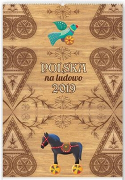 This beautiful wall calendar features 12 pages of quality Polish folk art designs. Titles of each work is in Polish. Days of the week are in Polish abbreviations. European layout - Monday is the first day of the week