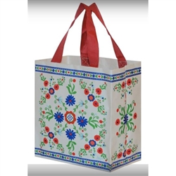 "This lightweight yet durable tote bag is a perfect way to display your heritage. Made of polypropylene (PP) woven laminate. Water runs right off. Size opened is approx. 10"" x 10.5"" x 6"""