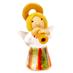 Our beautiful little ceramic angel is dressed in her Polish folk costume. Totally hand made and painted in Poland. Stamped and artist initialed on the bottom. No two angels are exactly alike as they are all hand made and painted.