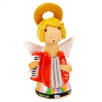 Our beautiful little ceramic angel is dressed in her Polish folk costume. Totally hand made and painted in Poland. Stamped and artist initialed on the bottom. No two angels are exactly alike as they are all hand made and painted. Egg Colors vary.