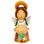 Our beautiful little ceramic angel is dressed in her Polish folk costume. Totally hand made and painted in Poland. Stamped and artist initialed on the bottom. No two angels are exactly alike as they are all hand made and painted. Colors vary