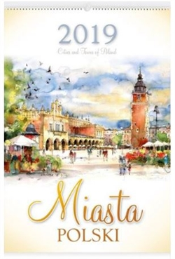 This beautiful wall calendar features 12 pages of Polish cities and towns in beautiful watercolors by artist Katarzyna Tomala. Days of the week are in Polish, English and German abbreviations. European layout - Monday is the first day of the week