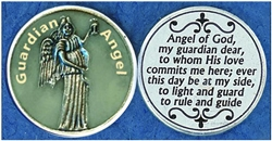 Guardian Angel Glow-in-the-Dark Pocket Token (Coin). Great for your pocket or coin purse.