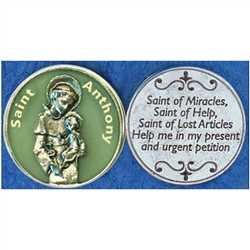 Saint Anthony Glow in the Dark Pocket Token (Coin). Great for your pocket or coin purse.