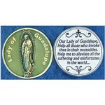 Our Lady of Guadalupe Glow in the Dark Pocket Token (Coin). Great for your pocket or coin purse.