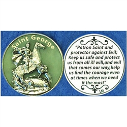 Saint George Glow in the Dark Pocket Token (Coin). Great for your pocket or coin purse.