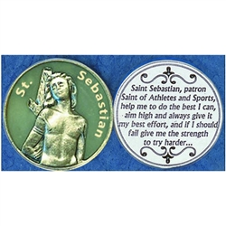 Saint Sebastian Glow in the Dark Pocket Token (Coin). Great for your pocket or coin purse.