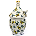 "A beautiful honey pot pattern designed by master artist Jacek Chyla! Set include pot, top and matching dipper. The artist has been connected with the Artistic Handicraft Cooperative ""Artistic Ceramics and Pottery"" since 1986. Since 1994 he has been a patt"
