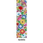 This is an Opole region pattern printed on a bookmark with a white background. Back of the bookmark includes a map of Poland and an explanation in English and Polish about this pattern.