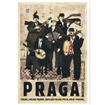 "Praga Warszawska, Polish Tourist Poster designed by artist Ryszard Kaja in 2018. It has now been turned into a post card size 4.75"" x 6.75"" - 12cm x 17cm. 