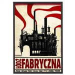 "Post Card: Lodz Fabryczna, Polish Tourist Poster, Polish Tourist Poster designed by artist Ryszard Kaja. It has now been turned into a post card size 4.75"" x 6.75"" - 12cm x 17cm."