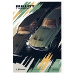 "Post Card: Bullitt, Film Inspired Poster, Polish Tourist Poster designed by artist Krzysztof Nowak. It has now been turned into a post card size 4.75"" x 6.75"" - 12cm x 17cm."