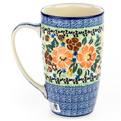 "Pattern designed By Maria Starzyk The artist has been connected with the Artistic Handicraft Cooperative ""Artistic Ceramics and Pottery"" since 1995. Since 1997 she has been a pattern designer. Unikat pattern number U2201."