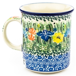"Pattern Designed By Maria Starzyk. The artist has been connected with the Artistic Handicraft Cooperative ""Artistic Ceramics and Pottery"" since 1997. Since 2003 she has been a pattern designer. Signature Unikat pattern number U2202."