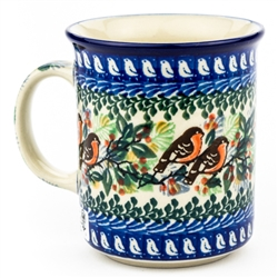 "Pattern Designed By Maria Starzyk. The artist has been connected with the Artistic Handicraft Cooperative ""Artistic Ceramics and Pottery"" since 1997. Since 2003 she has been a pattern designer. Signature Unikat pattern number U2649."