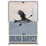 "Post Card: Dolina Baryczy, Polish Tourist Poster designed by artist Ryszard Kaja in 2018. It has now been turned into a post card size 4.75"" x 6.75"" - 12cm x 17cm."
